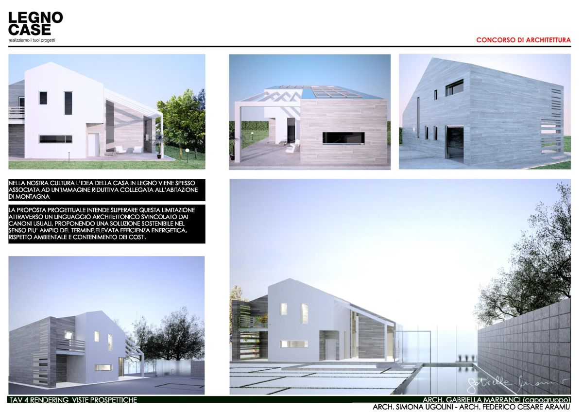 Studio marranci architettura e design concorso legnocase for Studio v architecture